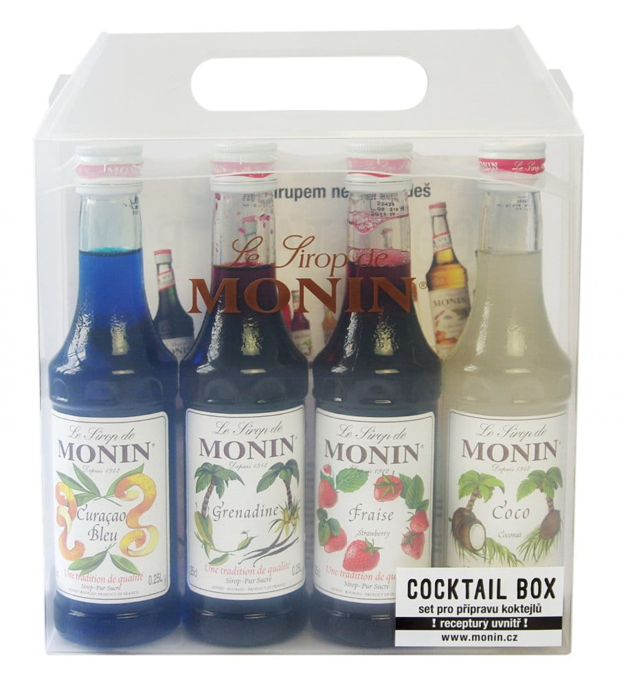 Monin Cocktail box 4x 0,25l