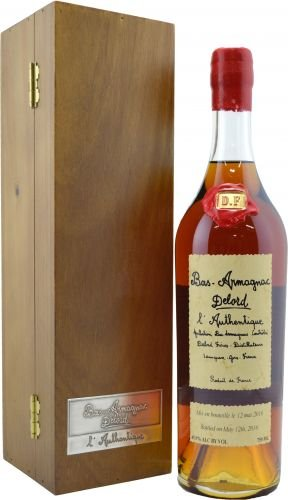 Armagnac Delord Authentique 0,7l 46% Dřevěný box