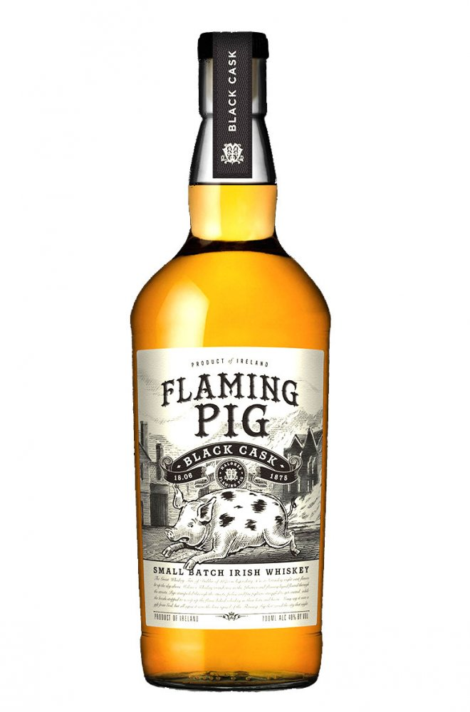 Flaming Pig Black Cask Whisky 0,7l 40%