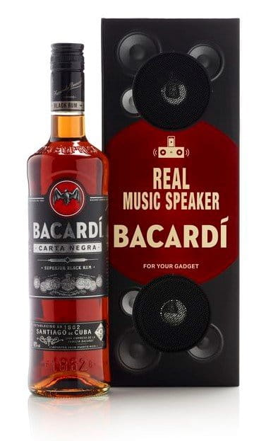 Bacardi Carta Negra Music Box Black 0,7l 40%
